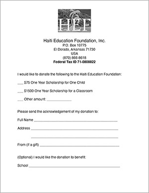 Donate to Haiti Education Foundation